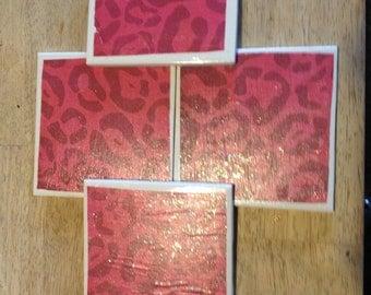 Pink Leopard Coasters