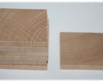 Various Unfinished Wood Square Rectangle-  You Choose Your Size, DIY Craft, Wood Tiles- Square Shape-Wooden Squares, Scrabble Tiles
