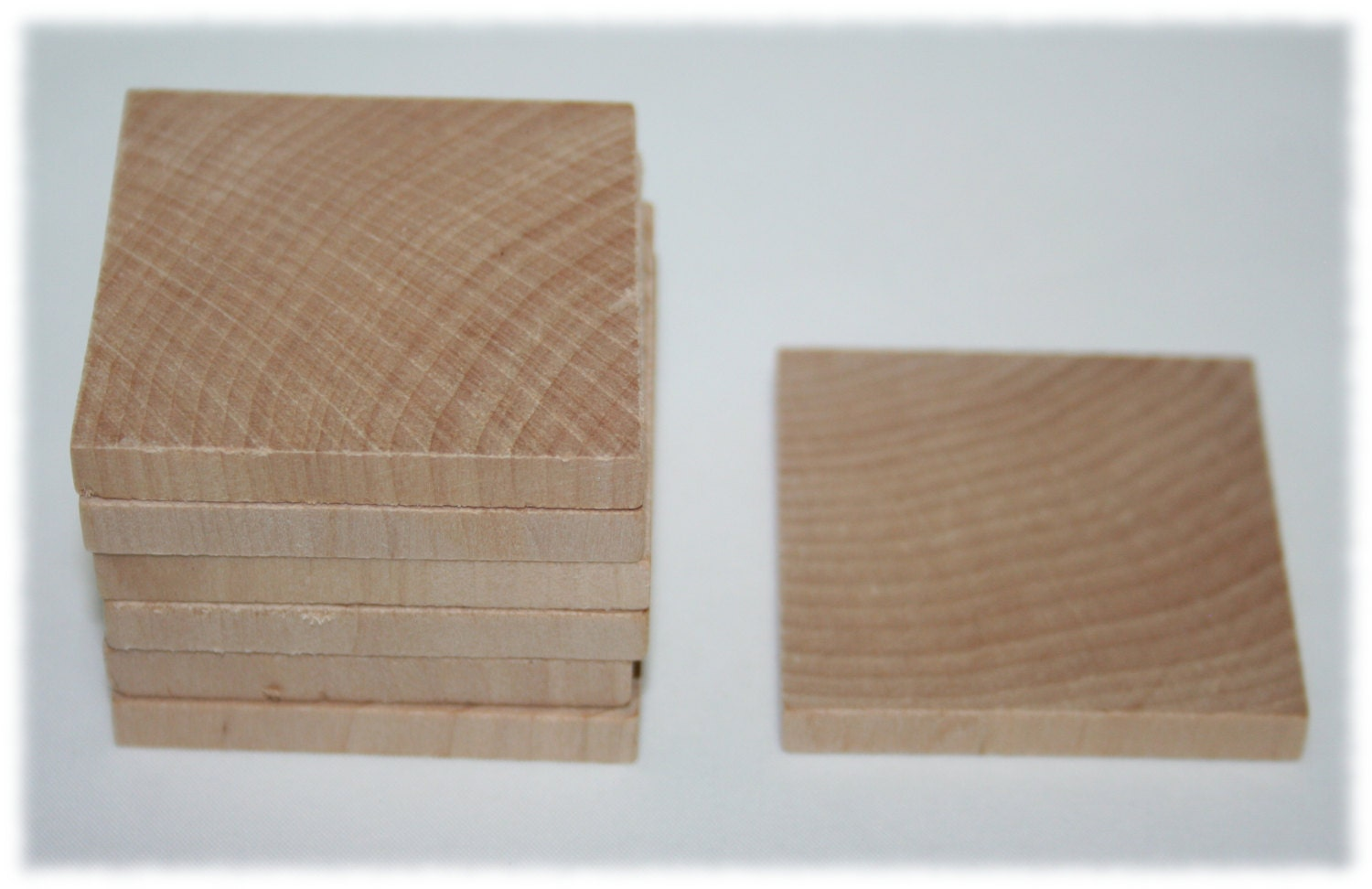 Unfinished wood craft pieces - 100 2 Unfinished Smooth Wood Square Diy Craft Wood Tiles Wood Pendant
