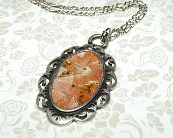 Creamsicle Dream Mosaic Glass Necklace