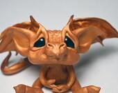 Renaissance Gold Baby Wish Dragon ~Original Fantasy Handmade Art Doll Sculpture