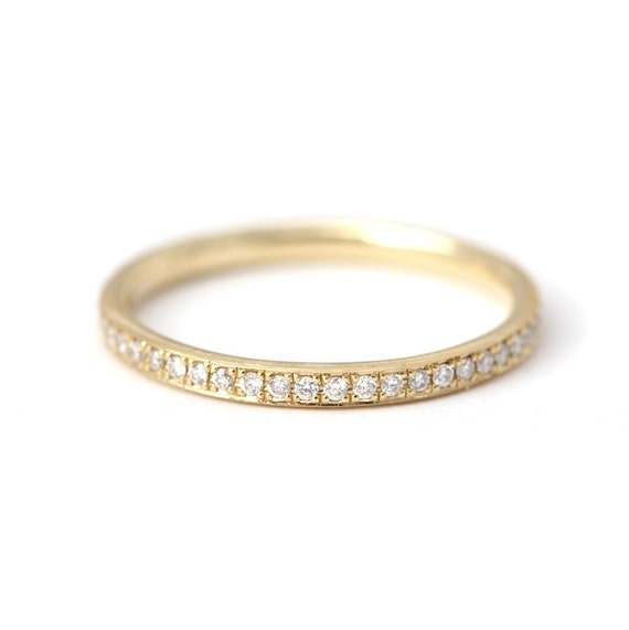 Classic Diamond Eternity Ring Eternity Wedding Band By Artemer