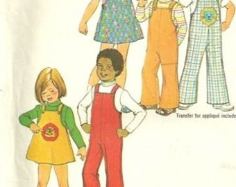 VTG Simplicity 7367 Child's Short Jumper, Overalls and Top Pattern, Size 2 UNCUT