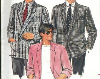 Butterick 4135 Men's Jacket Pattern, Sizes XS-S-M, 32-40, Uncut