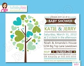 Family Tree Baby Shower Invitations - Printed Baby Shower Invitations - Custom Invitations