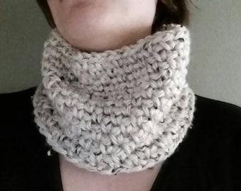 Chunky crochet cowl- ready to ship