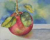Red Delicious Apple Watercolour Painting Wall Art