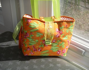 Handmade Sweet Pea Handbag