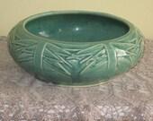 Vintage Turquoise McCoy Pottery Bulb Bowl Planter