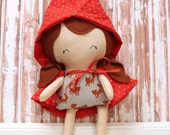 Little Red Riding Hood Doll - Fox - Ready To Ship
