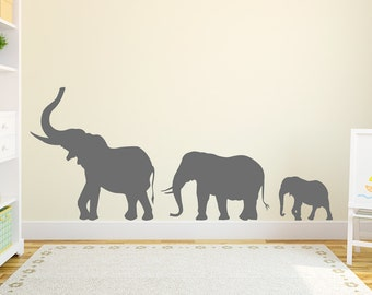 Superb Marching Elephants Wall Decal   Elephant Wall Sticker, Nursery Decal Sticker,  Elephant Wall Decor Part 17