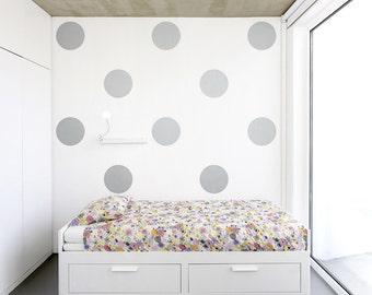 Giant Polka Dots Vinyl Wall Decal - Polka Dot Decal, Polka Dot Art, Nursery Wall Decal Sticker, Large Polka Dot Decal, Dot Wall Decal
