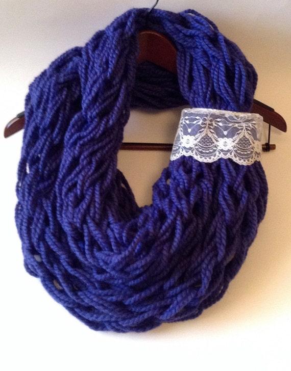 Loose Knit Scarf Pattern Free : Purple loose knit scarf oversized knit scarf purple infinity