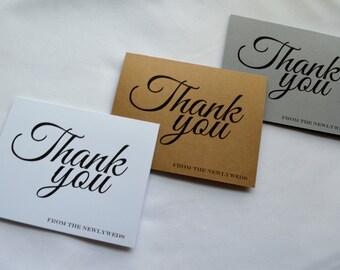 Wedding thank you cards wedding guest thank you card wedding guests thank you kraft rustic thank you card sets guests newlyweds thank yous