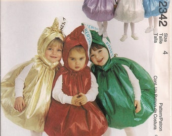 McCall's Costume Sewing Pattern 2342 - Toddler's Hershey's Kisses Costumes (2-3, 4)