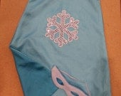 Elsa Inspired Cape - Snowflake Cape/Mask Set - Ice Queen cape for girls - size 4 - 6