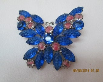 KJL blue butterfly brooch