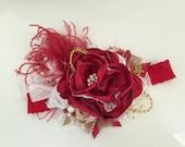 Baby Girl Headband-Baby Headband-Red Headband-Valentines Day Headband- Baby Girl-Photo Prop