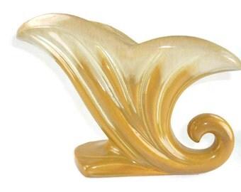 Large Cornucopia Vase or Horn of Plenty Planter