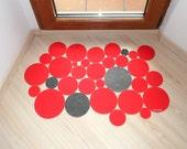 Modern and cool floor mat. Intruders dots. Custom your doormat.