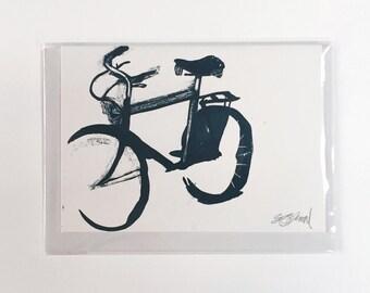 Screenprinted Bicycle Card