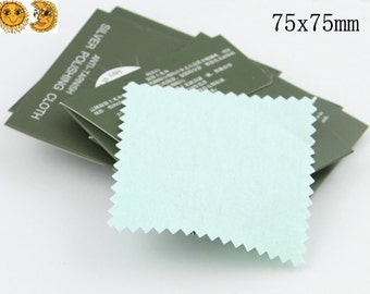 30 pcs silver cleaning cloth,silver polishing cloth 75x75mm