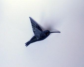 papier mache art sculpture Hummingbird ornament bird