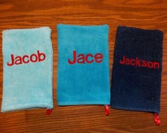 Kids Bath Mitt, Monogrammed Bath Mitt, Personalized Bath Mitt, Birthday Gift, Baby Shower Gift, Bath Shower Glove, Kids Washcloth
