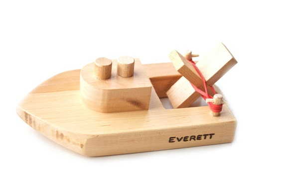 Toys Are Us Wooden Toys : Personalized wooden toy boat kids wood bath ready to