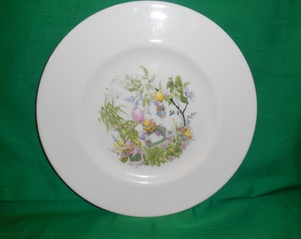 """One (1), 8"""" Bone China, Salad Plate, from Royal Kent, in the ROK-35 Pattern"""
