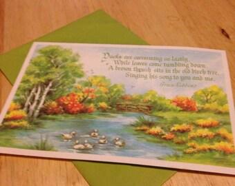 Ducks Birthday Card