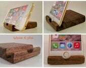 iphone 6 / 6 plus , galaxy note 4 (all notes) smart phone stand, docking station , Oregon Black Walnut ( 2-pack )