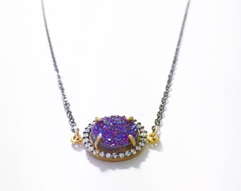 Pave Druzy Necklace