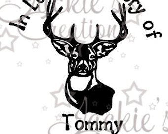 In Loving Memory of Decal with Deer/Buck