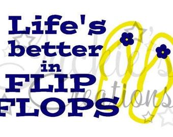 Life's Better in Flip Flops Decal
