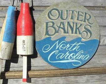 OBX Beach Sign, hand painted, original, ZDB OBX 4