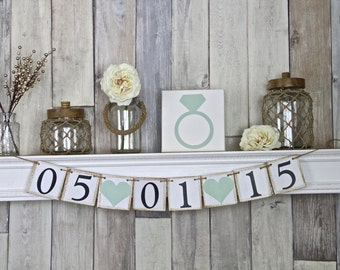 Save the Date Banner, Save the Date Sign, Rustic Save the Date Sign, Save the Date Sign Engagement