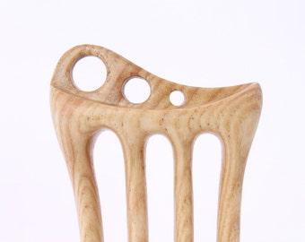 Wooden hair fork, 4 prong, Hair sticks, Wood, Ash tree, Hairpin, Handmade, Hair accessory, WoodArtJewelry