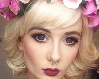 Marilyn // Platinum Chin Length Blonde White Wig Short Synthetic Hair