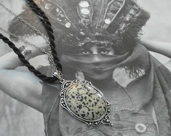 Dalmatian Jasper Pendant Necklace
