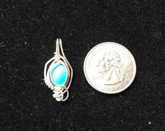 Silver Turquoise Mini Pendant