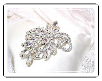 Rhinestone Juliana Brooch  - Vintage Brilliant Sparkling D&E   Pin-568a-060514000