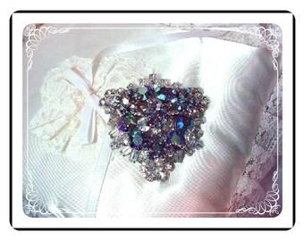 Blue Triangle Brooch - D & E Juliana High Quality Hypnotic  327a-070508047