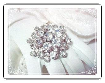Rhinestone D&E Brooch - Bold Bright Clear Juliana Brooch  Pin-759a-011609035