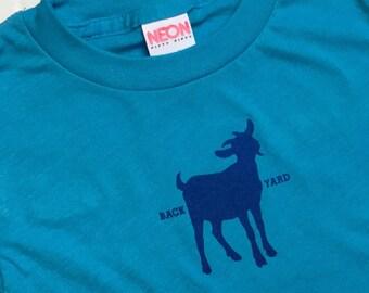 Backyard Goat Shirt - Toddler & Little Kid T-shirt- American Apparel Neon Tee- Urban Farming Dairy City Goats Child