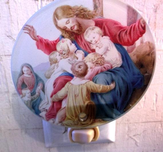 jesus night light, christian night light, religious light, decorative light, pretty night light, bathroom light, kitchen light