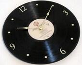 VAN MORRISON - Vinyl LP record album clock. - Wavelength - Upcycled