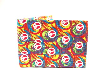 Swirly Peace Sign Duct Tape Wallet