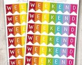 Rainbow 3 Day Weekend Banner, Set of 6 - Erin Condren