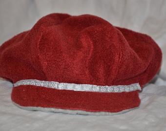 Red Reversible Newsboy Hat